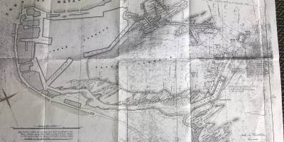 Following the Great Blizzard of 1891 which destroyed the end sections of Outer Harbour built just 3 years earlier, proposed plans dated June 1891 for a shorter stronger set of piers (fundamentally as they are to this day with modifications)