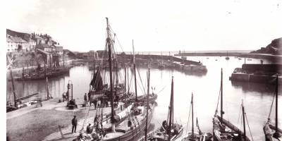 old photo of the harbour