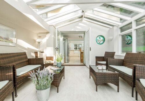 Luxury holiday home Beck Cottage conservatory