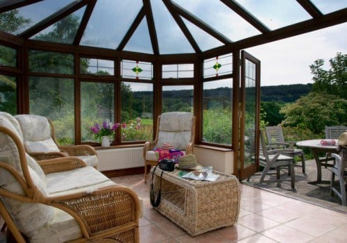 Holiday home in Blackborough showing large conservatory