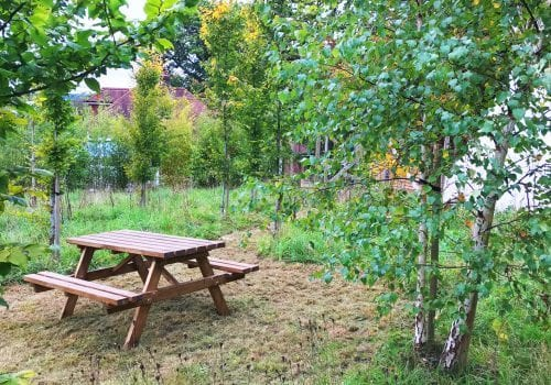 A picnic area for this self catering holiday let
