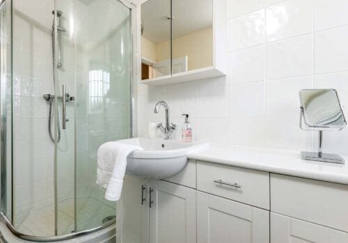 New Forsest self catering Criddlestyle Cottage shower cubicle