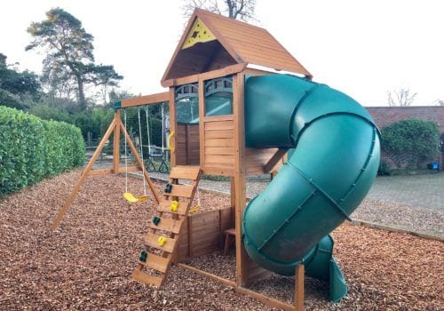 well equipped safe play area at Criddlestyle Cottage New Forest lots of fun for the children