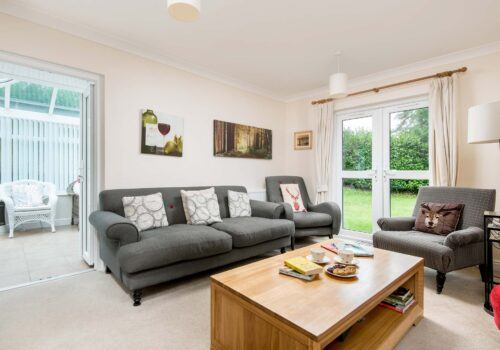 Large lounge with comfy seating New Forest Cottage