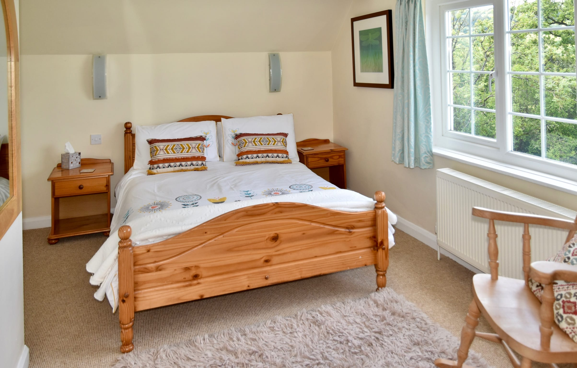Bedroom with fantastic view in Devon holiday let
