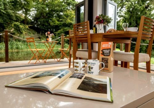 Relax with your favourite book and be greeted by a lovely welcome pack.