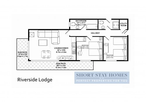 Floorplan for the sel catering property