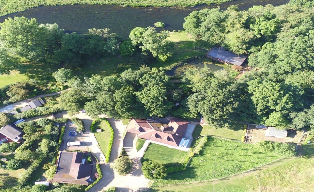 Aerial view of self catering holiday homes in Fordingbridge