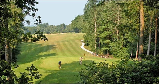 Gorgeous view across the green at Hamptworth Golf Course