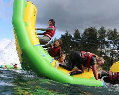 New Forest Waterpark with kids enjoying themselves