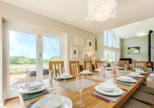 The table is set in Devon holiday home