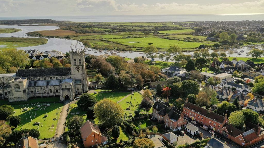 Aerial View of self catering holiday let in Dorset