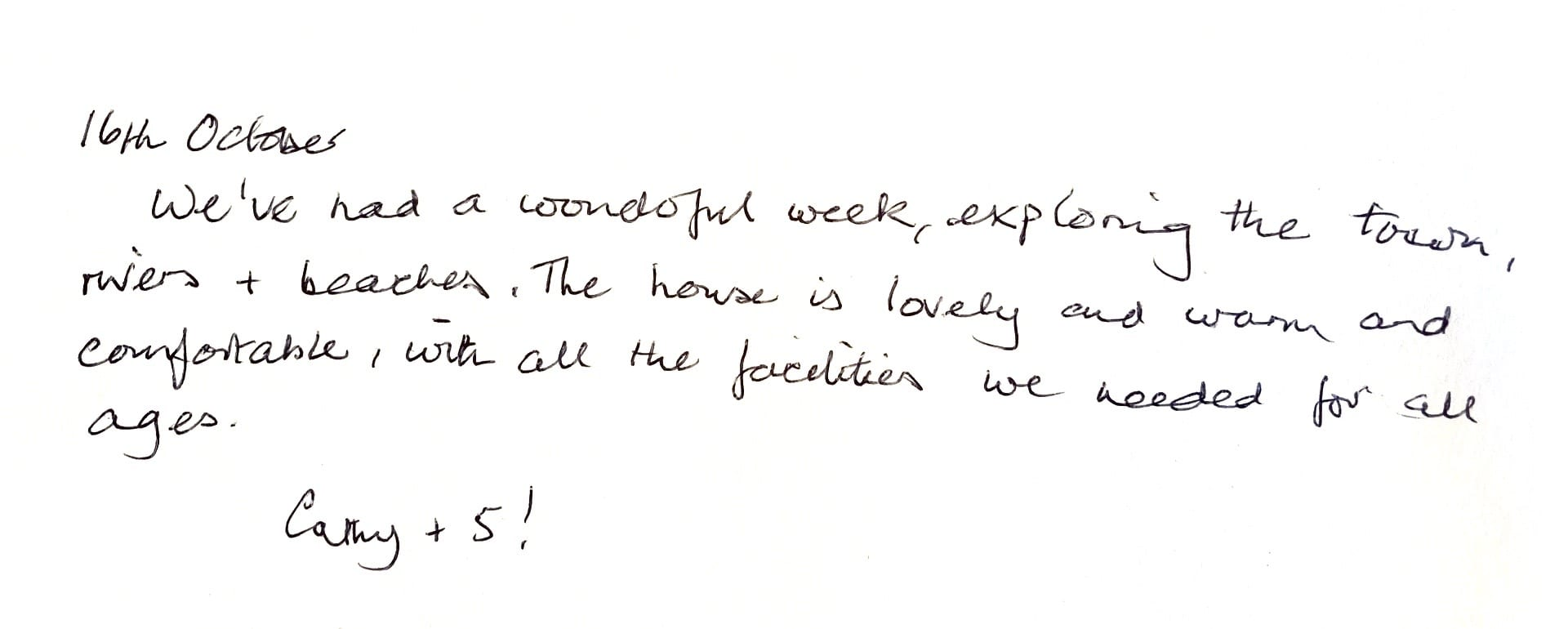 Wonderful guest review for Christchurch property