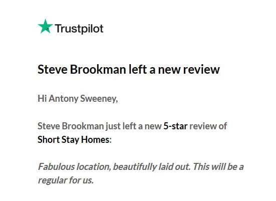 Wonderful review from returning guests