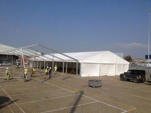 15m wide framed marquees