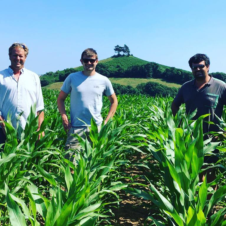 Melpash Agricultural Society's Farming Judges with Symondsbury Estate Farmers