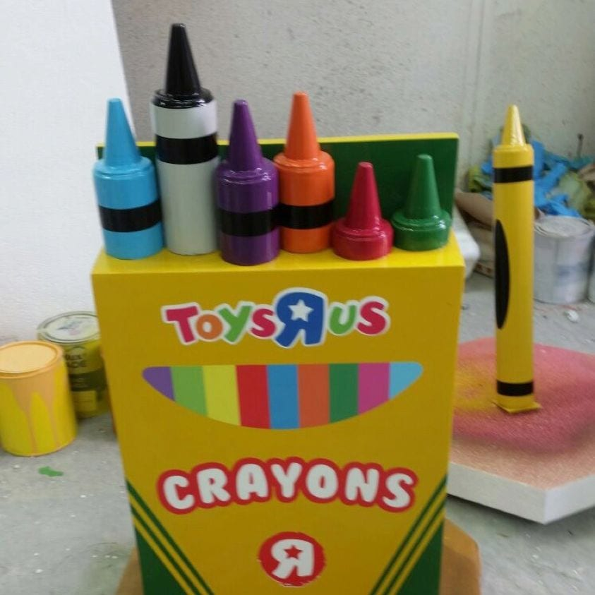 3D printing service for 2D designs & prototypes. Box of crayons prop created using 3D printing service.