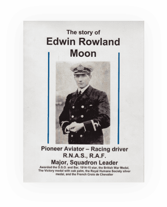 A book cover for The story of Edwin Rowland Moon.