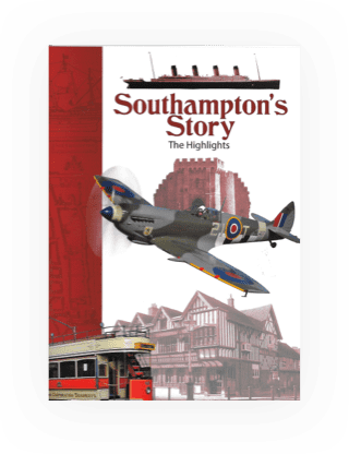 A4 booklet highlights with text and photos from the Old parts of Southampton.