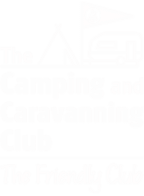 A logo for the camping and caravanning club.
