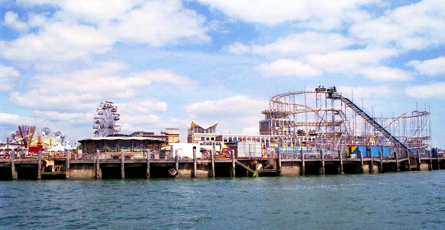 Hire a campervan in Portsmouth and see the Clarence Pier.