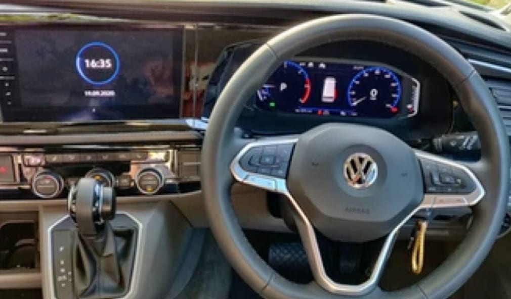 An interior photograph of one of the VW campervans available for hire from Southampton campers.