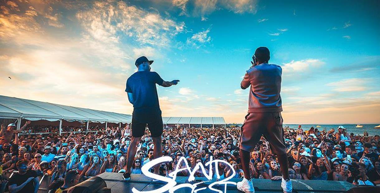 Hire a campervan for Sandfest in Bournemouth.