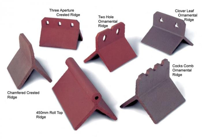 Ornamental ridges are available from Tile Specialist in Hampshire.
