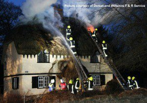 Roundway Thatch Fire DW F&R Service