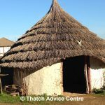 The Danebury Thatched Roundhouse Entrance   Thatch Advice Centre