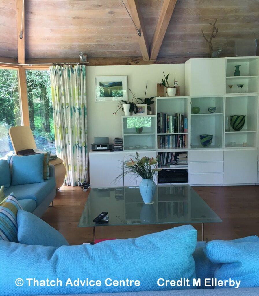 Architects Tale - Thatched Sunroom interior
