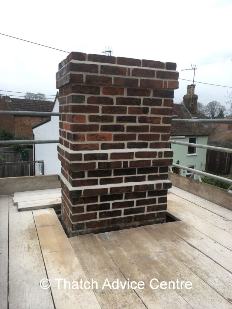 Thatch, Fire Safety and Chimney Issues Webinar - rebuilt and repointed chimney
